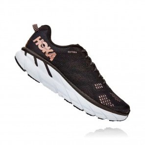 HOKA CLIFTON 6 FEMME | Black / Rose Gold