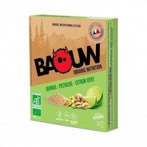 BAOUW Barres énergétiques bio | Quinoa - Pistache - Citron vert | Pack de 3