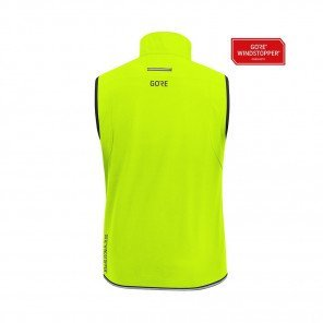 GORE® R3 GORE WINDSTOPPER GILET HOMME | NEON YELLOW