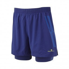 RONHILL Short TWIN MARATHON INFINITY Homme | Midnight Blue/Azurite | Collection Printemps-Été 2019